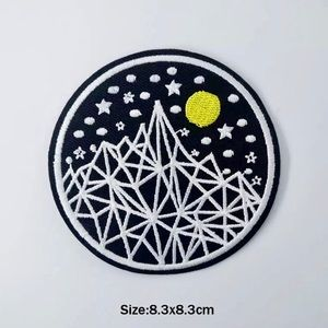 Accessories - Geometric Mountain Iron On Embroidered Patch